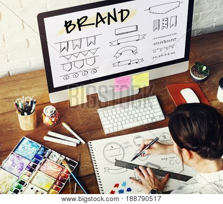 Illustration of brand trademark design