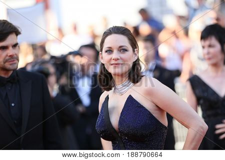 Marion Cotillard attends the 70th Anniversary of the 70th annual Cannes Film Festival at Palais des Festivals on May 23, 2017 in Cannes, France.