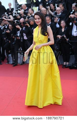 Shu Qi attends the 70th Anniversary of the 70th annual Cannes Film Festival at Palais des Festivals on May 23, 2017 in Cannes, France.