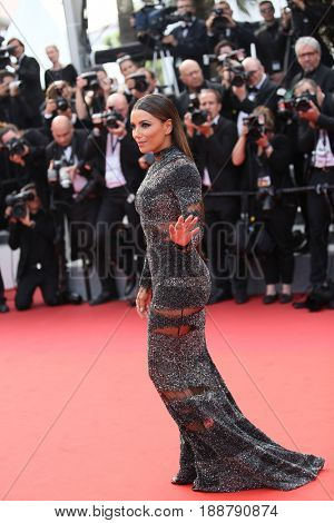 Eva Longoria attends the 70th Anniversary of the 70th annual Cannes Film Festival at Palais des Festivals on May 23, 2017 in Cannes, France.