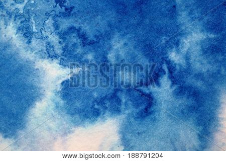 Dirty blue texture with ink stains