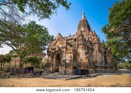 Kyan Ma Ba ancient temple in Bagan, Myanmar. (Burma)