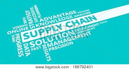 Supply chain Presentation Background in Blue and White