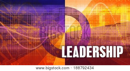 Leadership Focus Concept on a Futuristic Abstract Background
