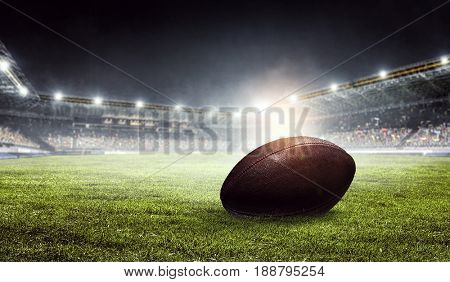 American football arena. Mixed media