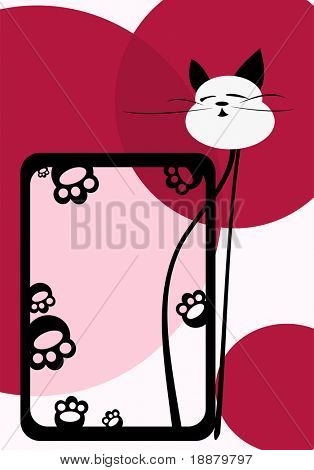 vector image of cat framework. good use like frame for your photos