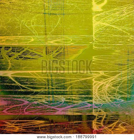 Designed grunge texture or retro background. With different color patterns: blue; yellow (beige); brown; green; red (orange); purple (violet)