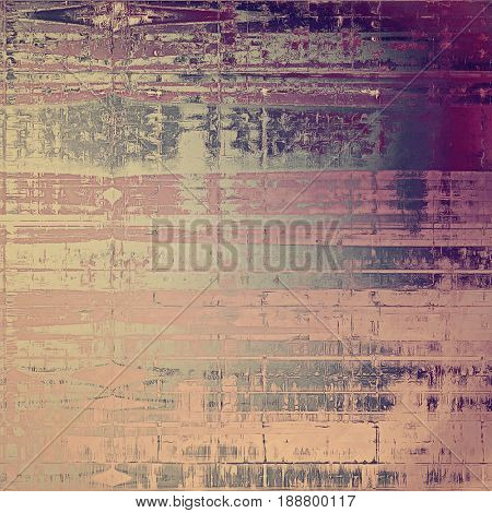 Grunge texture in ancient style, aged background with creative decor and different color patterns: yellow (beige); gray; purple (violet); pink