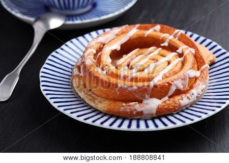 Traditional Danish pastry and coffee on a table