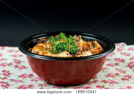 japanese food eel Chirashi Rice Bowl