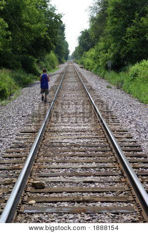 Boy On Tracks
