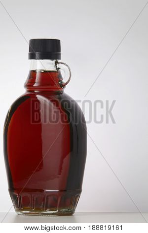 maple syrup on the white background