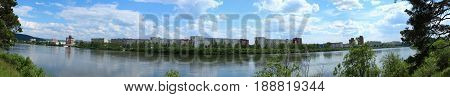 Panorama of the city of Zelenogorsk, Krasnoyarsk region