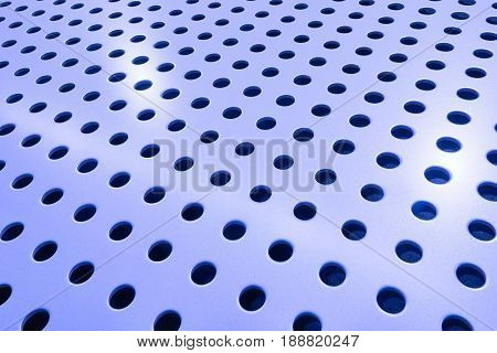 Metal hole mesh pattern, shiny material