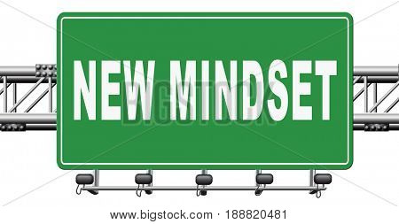 change your mindset, a new way of thinking, think different. Change your ways., 3D, illustration