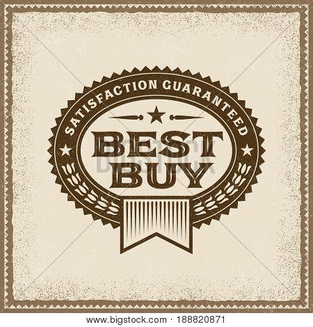 Vintage Best Buy Label