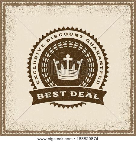 Vintage Best Deal Label
