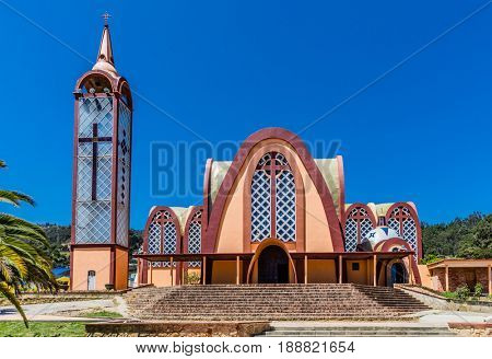 Iglesia Parroquial Santa Rosa De Lima of Santa Sofia Boyaca in Colombia South America