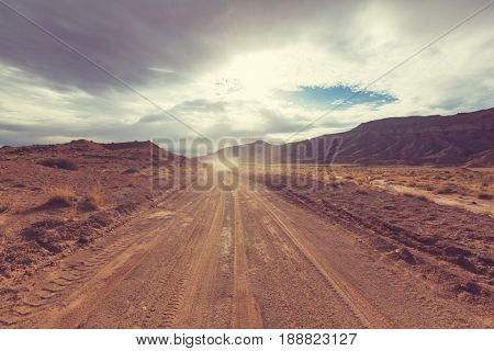 Road in the prairie country