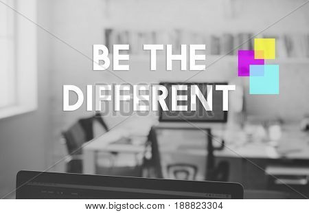 Be Different Mindset Motivation Word