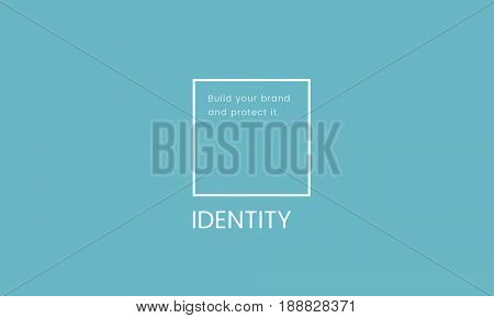 Illustration of identity branding business trademark