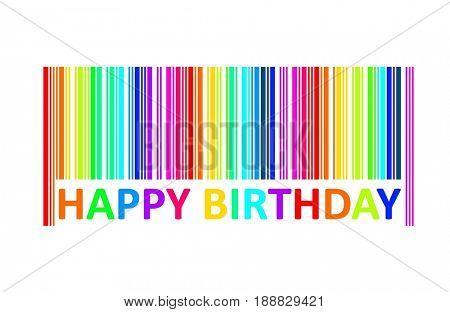 Happy birthday with  bar code