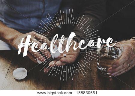 Senior Adult Health Conscious Medication Treatment Wellness