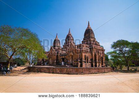 Paya Thone Zu Temple in Bagan, Myanmar. (Burna)