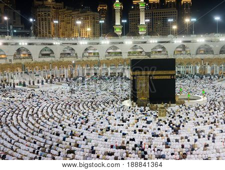 Muslims gathered in Mecca of the world's different countries