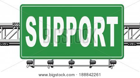 support desk icon or help desk technical assitance and customer service, 3D, illustration