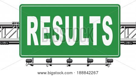 results and succeed business success be a winner in business elections pop poll or sports market result or market report business result business report election results, 3D, illustration