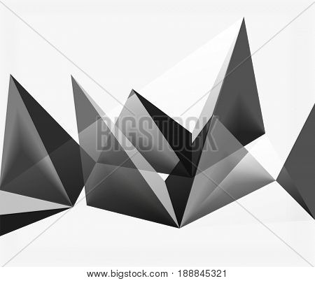 White 3d triangle textured background