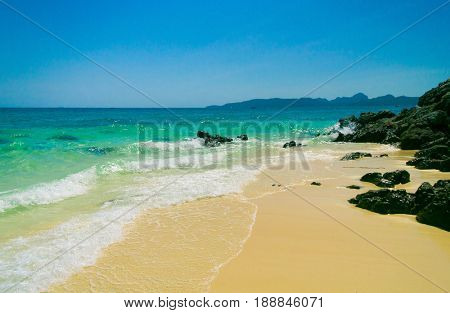 White Sand Idyllic Scene