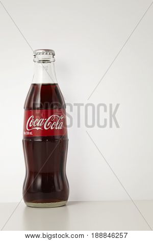 KUALA LUMPUR, MALAYSIA - May 26th 2017, Coca Cola drinks are produced and manufactured by The Coca-Cola Company, an American multinational beverage corporation.