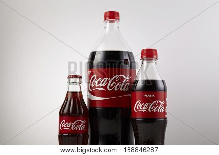 KUALA LUMPUR, MALAYSIA - May 29th 2017, Various type of Coca Cola drinks. Coca Cola drinks are produced and manufactured by The Coca-Cola Company, an American multinational beverage corporation.