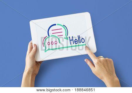 Hello Word Digital Device Screen