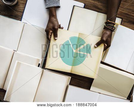 Illustration of business chart marketing share