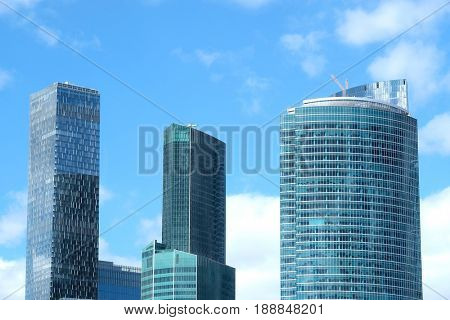 Moscow, Russia - May, 5, 2017: skyscrapers of Moscow city