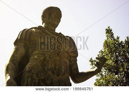 The statue of the Julius Casear, the great Roman emperor
