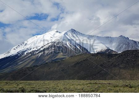 The Lost River Mountain Range between Challis and Mackay, Idaho includes Dickey Peak.