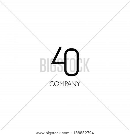Vector eps logo with forty number company
