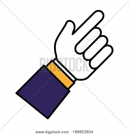 hand human index isolated icon vector illustration design