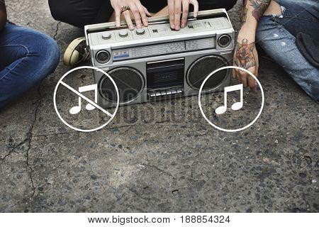 Multimedia Entertainment Sound On/Off Button