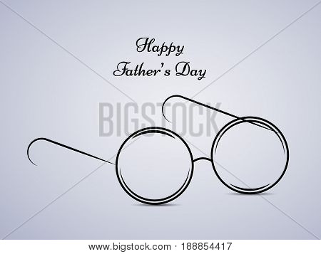 Illustration of spectacles with happy father's day text