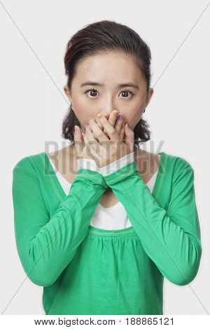 Shocked Chinese woman