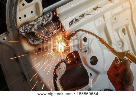 Cutting auto body with gas torch - Auto body repair