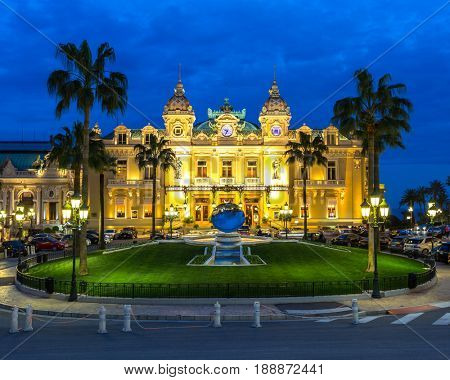 MONTE CARLO. PRINCIPALITY OF MONACO. MAR 11  : Casino de Monte-Carlo is a gambling and entertainment complex located in Monaco on March 11, 2016