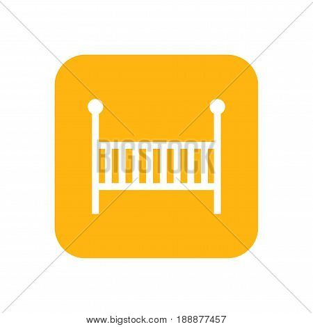 Cot for child. Flat color icon. Baby items for newborns.