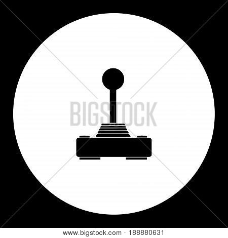 Computer Input Joystick For Game Simple Black Icon Eps10