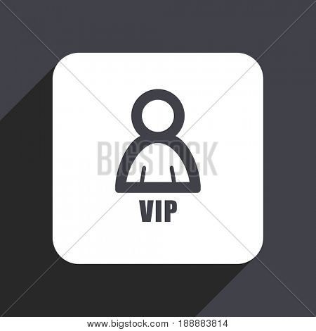 Vip flat design web icon isolated on gray background